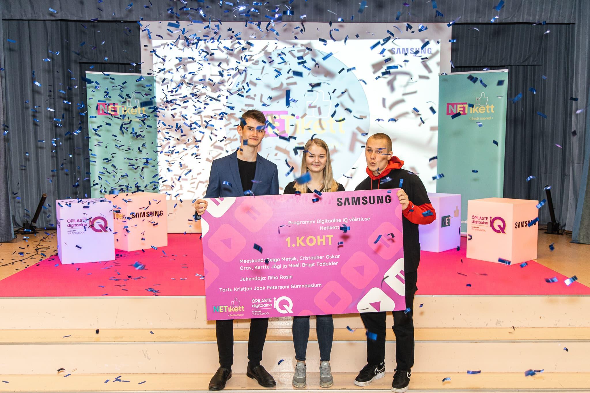 Noorte digiharidusvõistluse Netikett võitis autoriõiguste teemaline video